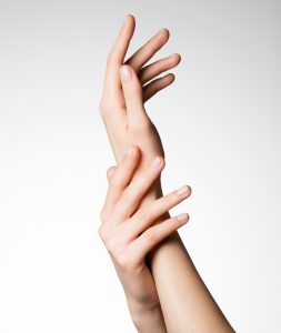 Beautiful elegant female hands with healthy clean skin